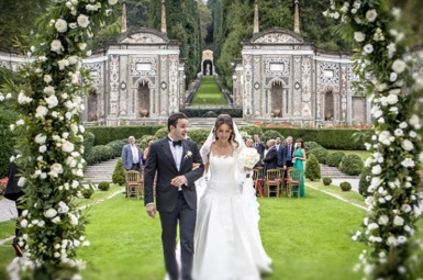 villa d'este wedding ceremony