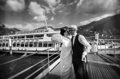 lake como wedding photo
